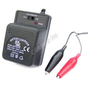 500mA charger for 6V & 12V sealed lead-acid batteries