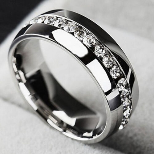 Men Women Couple Stainless Steel Wedding Ring Titanium Engag