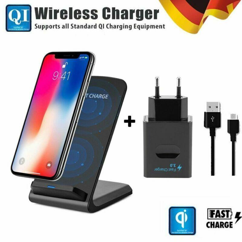 Details zu 10W Dual Coil Qi Wireless Fast Charger Ladestation Induktive Ladegerät für Handy
