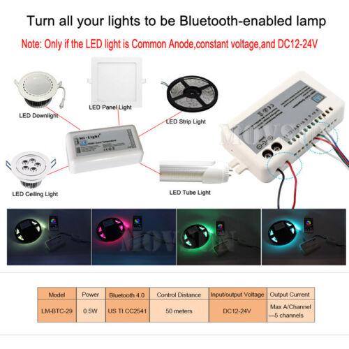V Mi Light Bluetooth     RGB WW CW CCT Bluetooth Controller for LED Strip eBay