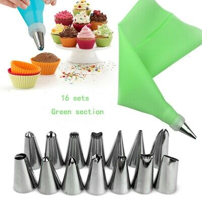 US Cake Decorating Kit Supplies Set Tools Piping Tips Pastry Icing Bags Nozzles](Cake Decorator)