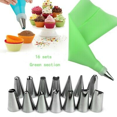 US Cake Decorating Kit Supplies Set Tools Piping Tips Pastry