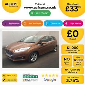 Ford Fiesta 1.0, 1.2, 1.4, EcoB Zetec Titanium COPPER, 5dr FROM £33 PER WEEK!