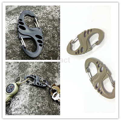 5Pcs/Lot S Type Backpack Clasps Climbing Carabiners EDC Keychain New US