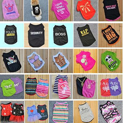 New Summer Various Pet Puppy Small Dog Cat Pet Clothes Vest Star Kiss Apparel