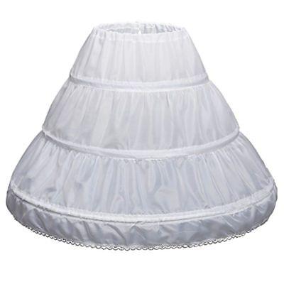 Children Petticoat A-Line 3 Hoops 1 Layer Kids Crinoline Flower Girl Underskirt](Girls Petticoat)