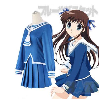 Fruits Basket Tohru Honda Cosplay Kostüm Schule JK Sailor Halloween Uniform