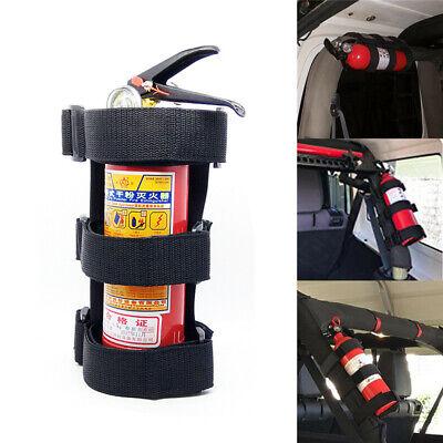 Adjustable Car Auto Roll Bar Fire Extinguisher Holder Mount Bracket For Jeep Tj