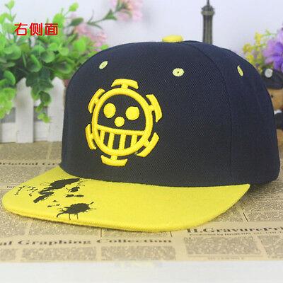 Top Anime One Piece Trafalgar Law Cotton Baseball Cap Sun Hat Cosplay Adjustable