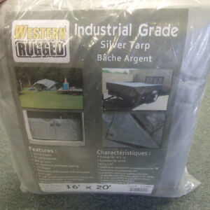 Industrial Grade Silver Tarp new in package in perfect condition