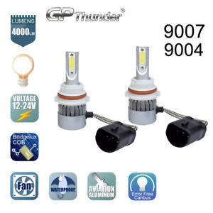 2x 9007 9004 HB5 CREE COB LED Headlight Kit Hi/Lo Power Bulbs 6000K HID