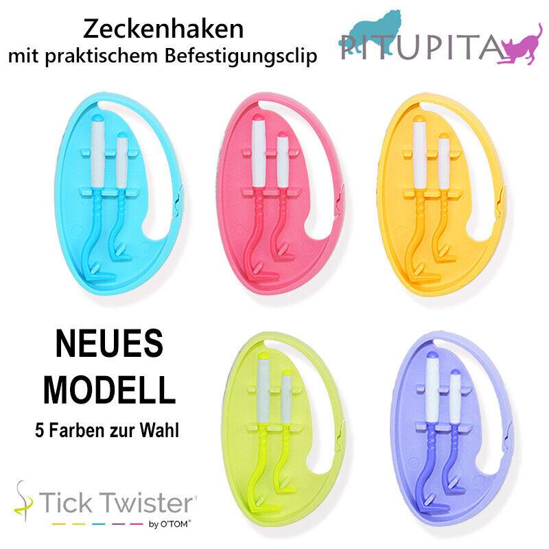 Tick Twister Zeckenzange Zeckenhaken 2 Haken mit Box by O`Tom Zeckenzieher Zecke