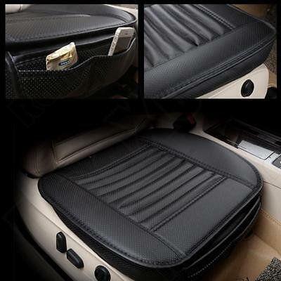(Black PU Car Full Surround Seat Cover Bamboo Charcoal Breathable Cushion Pad )