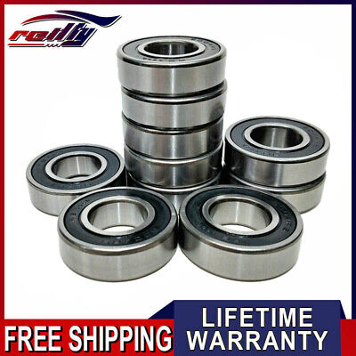 Lot Of 10pcs 6004-2rs Premium C3 Double Rubber Sealed Ball Bearings 20x42x12mm