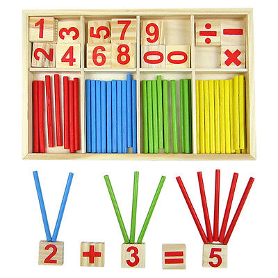 Wooden Montessori Mathematics Material Early Learning Counting Toy for Kids FF