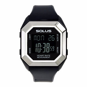 *SOLUS* LEISURE 840 UNISEX HEART RATE MONITORING WATCH - BLACK