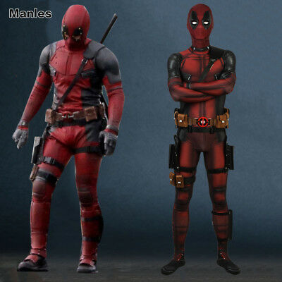 Cosplay Deadpool 2 Costume Festival Comic Con Halloween Men Outfit Prop New Suit - Comic Suit