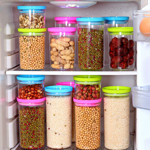 New Clear Storage Jar Portable Containers Food Fruit Storage