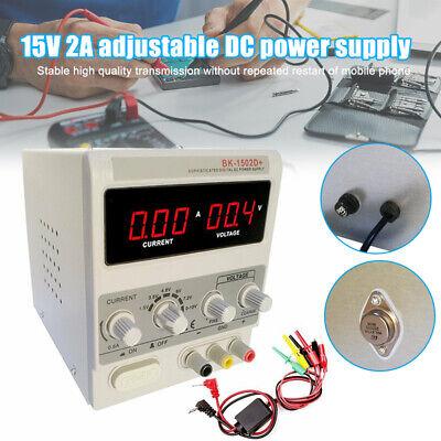 15v 2a Adjustable Dc Power Supply Precision Variable Dual Digital Lab Test Usa