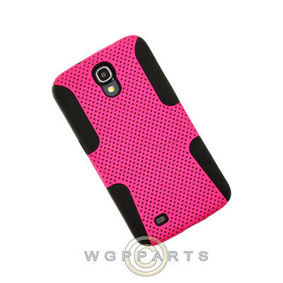 - Samsung Galaxy Mega 6.3 Hybrid Mesh Case Hot Pink Case Cover Shell Guard
