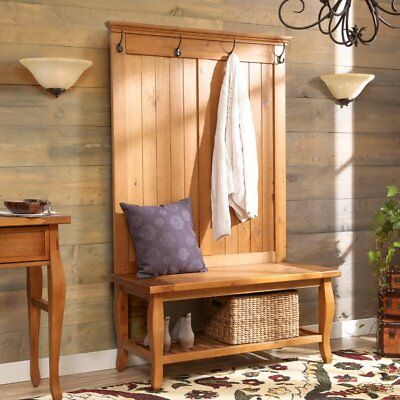 Hat and Coat Racks Free Standing Entryway Foyer Hall Tree with Shoe Storage ()