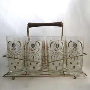 Vintage 1950s 8 Glasses & Wire Holder Rack Kitchener / Waterloo Kitchener Area image 1