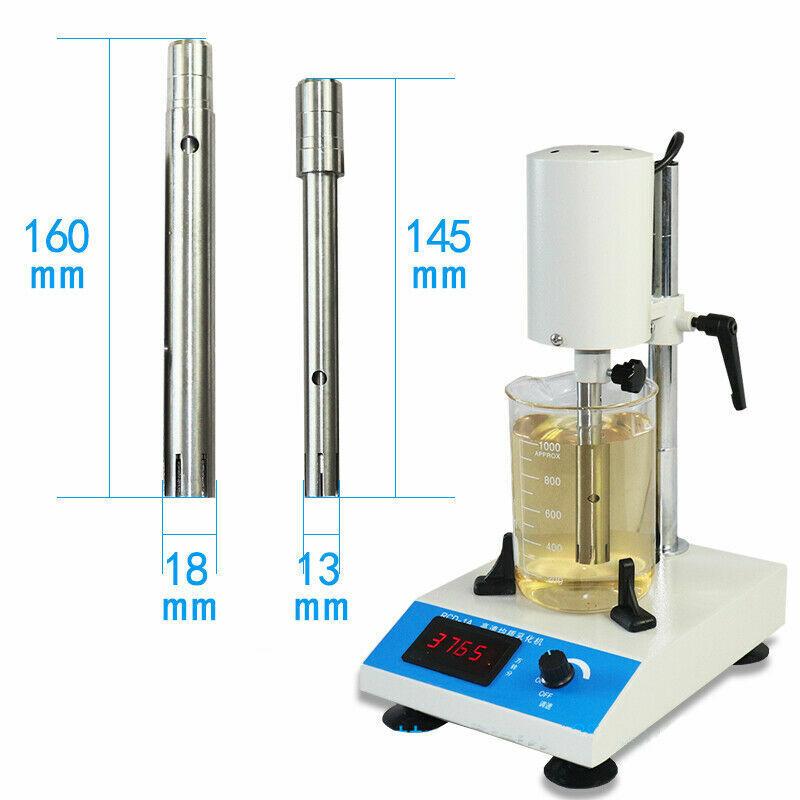220V 300W Adjustable High Speed Emulsifying Homogenizer Laboratory Dispenser