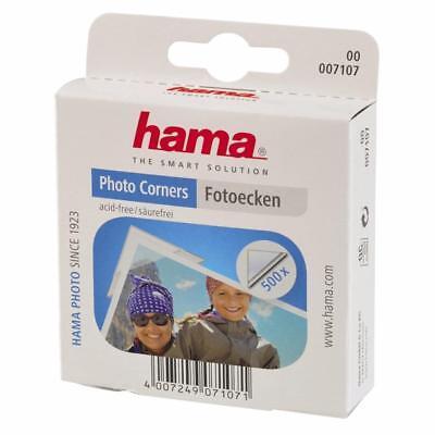 HAMA CLEAR PHOTO CORNERS BOX 500 TRANSPARANT SELF ADHESIVE 7107
