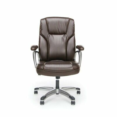 Scranton Co Ergonomic High Back Leather Office Chair In Brown