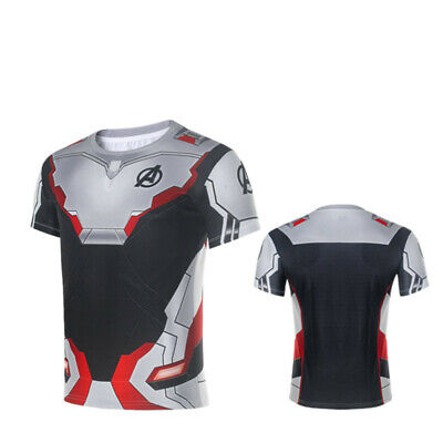 Avengers Shirts (Avengers 4 Endgame Quantum Realm Cosplay T-shirt 3D Printed Tee Top Men's)