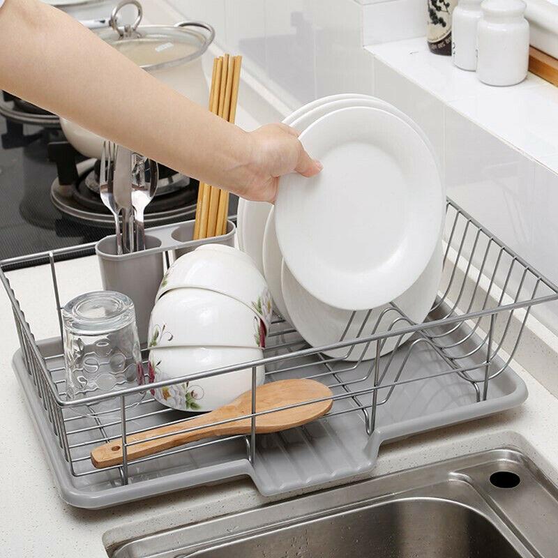 Dish Drain Strainer Washing Dishes Tray Rack Dryer Kitchen S