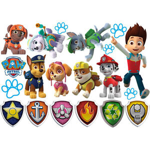 Custom Kids Paw Patrol, Charmers & more Wall Stickers & Cut Outs