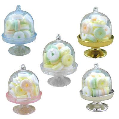 12x Mini Cake Stand Cupcake box Wedding Party Plastic Candy Box Transparent T5E2