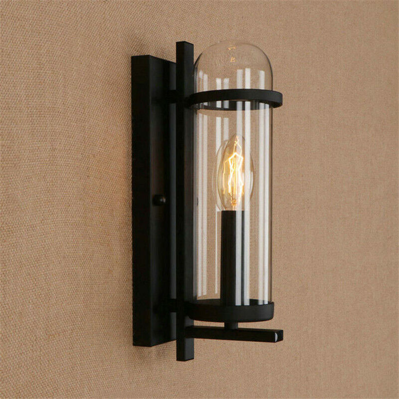 Details About Indoor Wall Lamp Bar Vintage Wall Light Kitchen Wall Lighting Black Wall Sconce