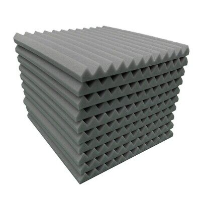 10X Acoustic Wall Panels Sound Proofing Foam Sponge Pads Studio Soundproof Tool