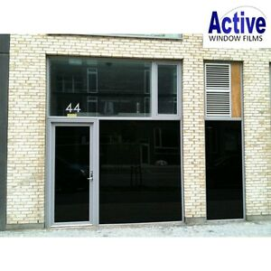 total light blackout 100 privacy window tinting tint film 51 76 100 152cm ebay. Black Bedroom Furniture Sets. Home Design Ideas
