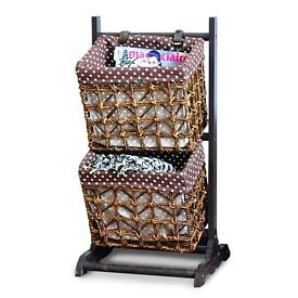 Wood Stand Baskets Magazine Book Newspaper Holder Rack Storage H456-2
