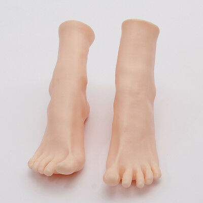 1 Pair Womens Lifelike Soft Foot Mannequin Display Shoes Socks Toes Separate