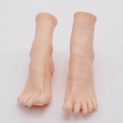 1 Pair Womens Lifelike Soft Foot Mannequin Display Shoes Socks Toes Separate
