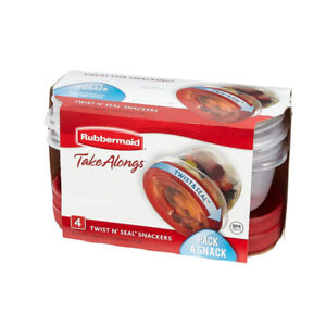 Rubbermaid Takealongs Twist and Seal Food Storage Containers, 1.
