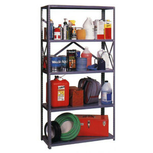 Steel Commercial Shelving Unit in Grey