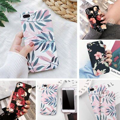 Ultra Thin Flower Pattern Hard PC Shockproof Case Cover For Samsung S7 S8 S9 S9+