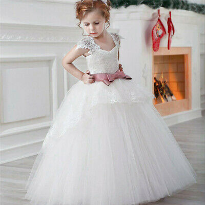 Flower Girl Clothes (Flower Girl Dress For Wedding Tulle Lace Bridesmaid Gown Pageant Formal)