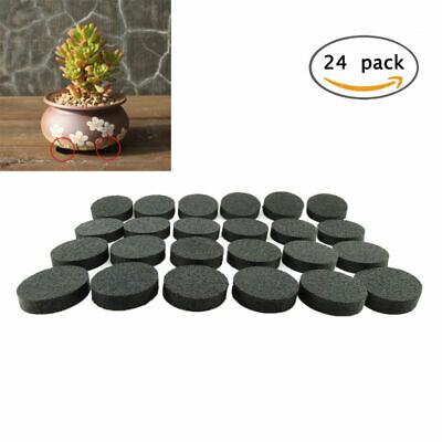 24x Flower Pot Feet, Invisible Flower Pot Risers, Rubber Risers for Plant Pots
