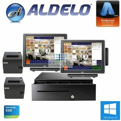 2 Station Aldelo Pro Restaurant Hp Pos System 4gbnew Ssd Hdd3yr Warranty