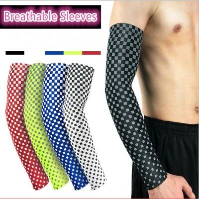 1 Pair Cooling Arm Sleeve Arm Compression Sleeves Cover UV Sun Protection Sport Fashionable Compression Arm Sleeves