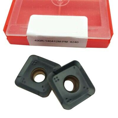 490r-140412m-pm 4240 Threading Carbide Inserts Cutting Tool For Lathe Cnc 10p
