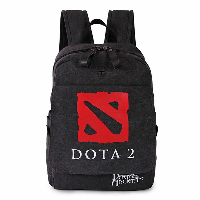 Anime Game DOTA 2 Student School Backpack Kawaii Shoulder Messenger Bag