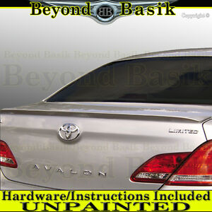 2005-2012 Toyota Avalon Factory Style Rear Trunk Lip Spoiler Wing UNPAINTED