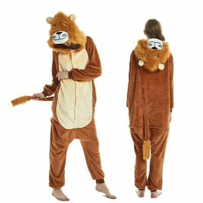 Unisex Erwachsene Kinder Lion Tiger Kigurumi Pyjamas Cosplay Nachtwäsche - Kind Tiger Pyjama Kostüm
